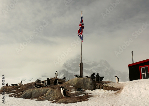 british research station and post office in antarctica.