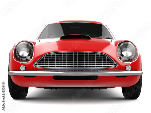 Photo  Red Classical Sports Car