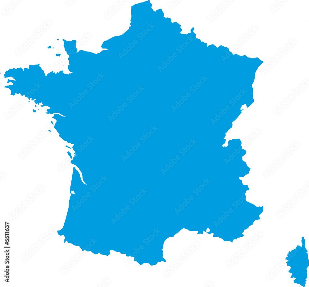 Fototapeta Carte de France vectorielle