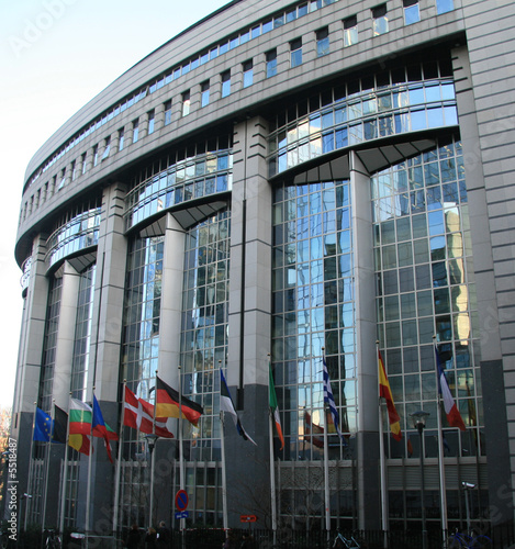 Foto op Canvas Brussel European parliament in Brussels