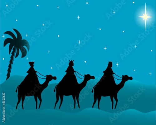 Valokuva  los tres reyes magos de oriente