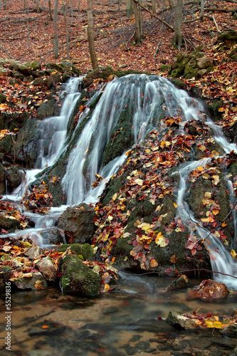 Poster Bordeaux Waterfall in autumn
