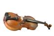 Alte Geige mit Freistellungspfad.