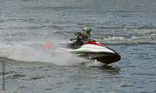 Poster Water Motor sports jet ski competition