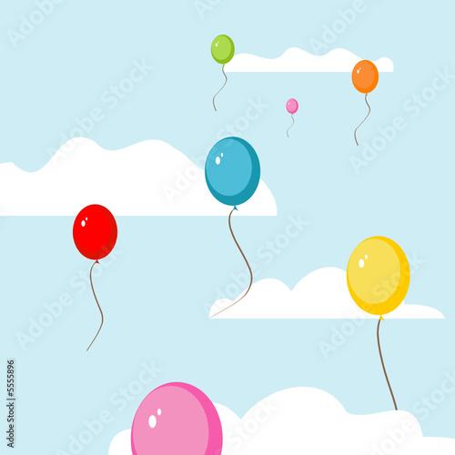 Papiers peints Ciel Ballons, die in den Himmel steigen