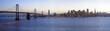 High-resolution image of Bay Bridge and San Francisco downtown