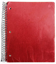 Old Red Notebook Isolated Agai...