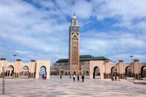 Fotografía moschea di Hassan 2`a Casablanca in Marocco