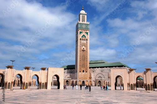 Papiers peints Maroc moschea di Hassan 2`a Casablanca in Marocco