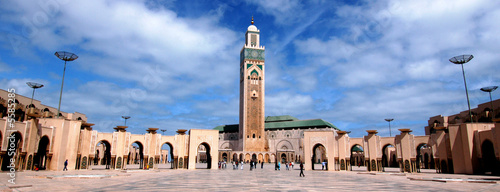 Photo Stands Morocco moschea di Hassan 2`a Casablanca in Marocco