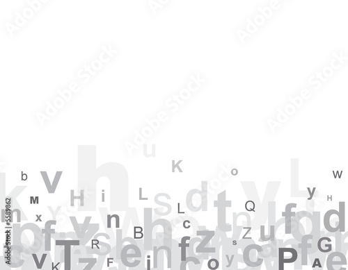 Fotografie, Obraz  Alphabet letters