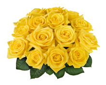 Yellow Rose Bouquet Isolated O...
