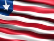 Flag of Liberia, CG-illu with silky appearance and waves