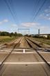 Perspective shot of railway