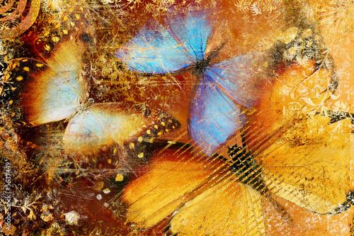 Obraz messy butterflies - artistic clip-art - fototapety do salonu