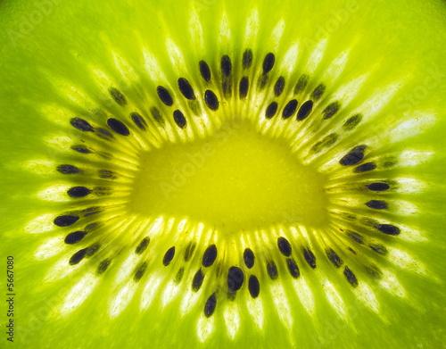 Spoed Foto op Canvas Plakjes fruit Kiwi explosion