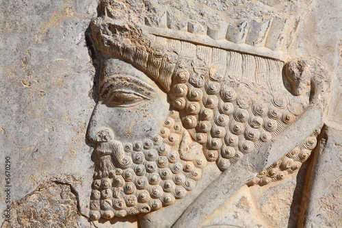 Fotografie, Obraz  Bas-relief of Persian soldier from Persepolis