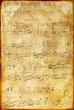 Leinwanddruck Bild vintage musical page