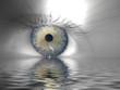 canvas print picture - Auge + Wassereffekt