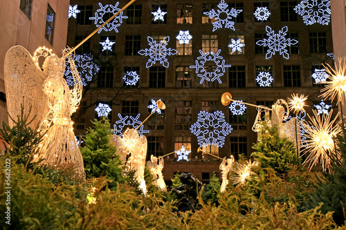 Plakát  The Christmas decorations in The Rockefeller Center