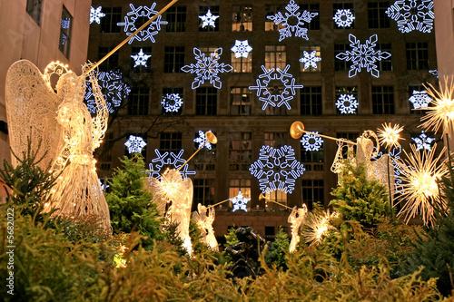 Fototapeta The Christmas decorations in The Rockefeller Center