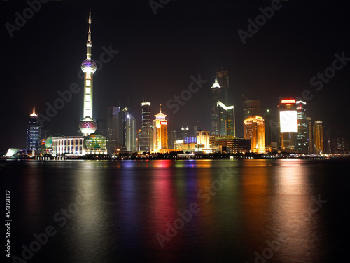 Photo  Night view of Shanghai, China