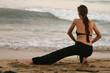 Fitness auf dem Strand