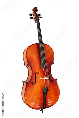 Cello, isolated on white with clipping path. Tapéta, Fotótapéta