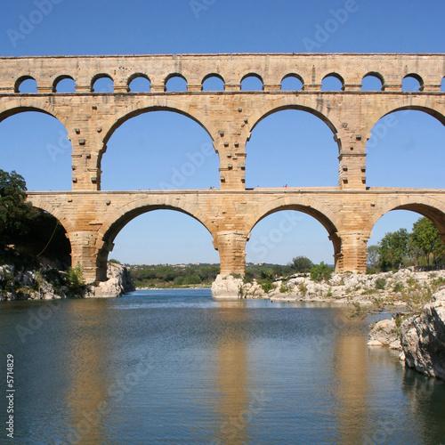 Tableau sur Toile Roman aqueduct at Pont du Gard France