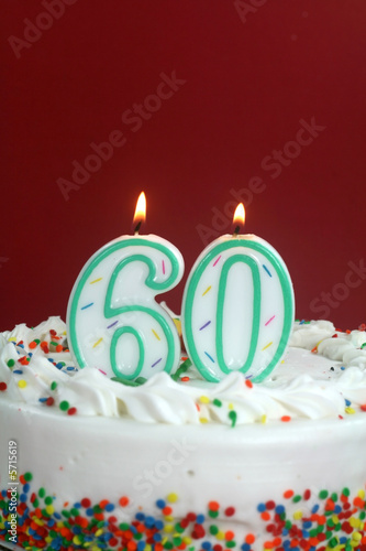 Poster  Birthday Cake - Sixty
