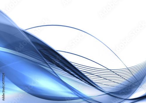 einzelne bedruckte Lamellen - Modern background in blue (von Neliana Kostadinova)