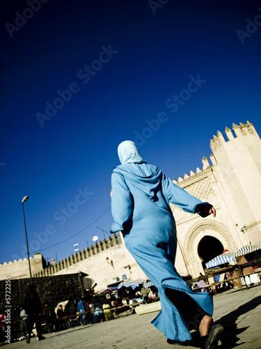 Foto op Plexiglas Marokko Walking