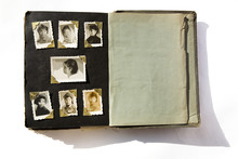 Photo Album With Old Stained Photos