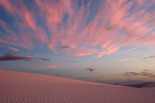 An After Sunset Lightscape In White Sands, New Mexico