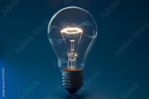 Fotomural glühbirne blau