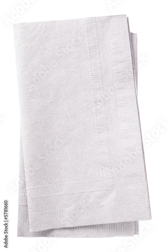 Fotografie, Obraz  Clipping path included. Stack of two white napkins.