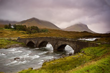 Bridge On Sligachan  Isle Of Skye, Scotland