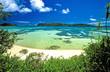canvas print picture plage de Praslin aux seychelles