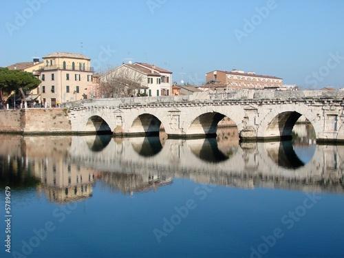Deurstickers Artistiek mon. This Roman bridge in Rimini