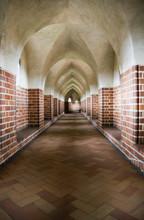 Gothic Gallery In The Malbork Castle, Poland