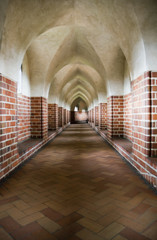 Fototapeta Gothic gallery in the Malbork castle, Poland