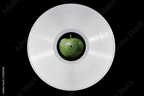 White vinyl record Tablou Canvas
