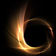 canvas print picture - Feuer auf schwarzem Hintergrund