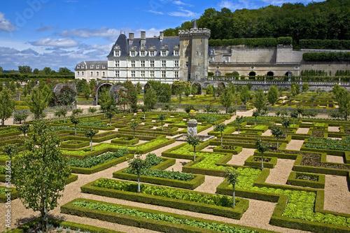 jardins et chateau de villandry, touraine, france Wallpaper Mural