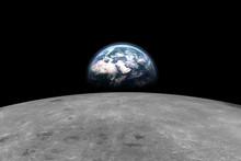 Earth Behind The Moon