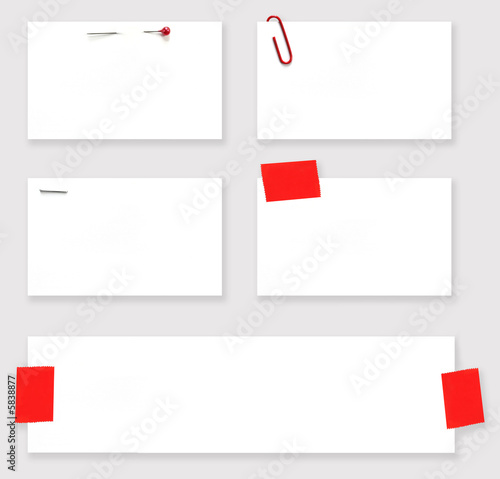 Fotografie, Obraz  Variety of blank white labels.   With clipping path.