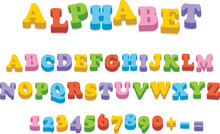 Vector Fridge Magnet Alphabet ...
