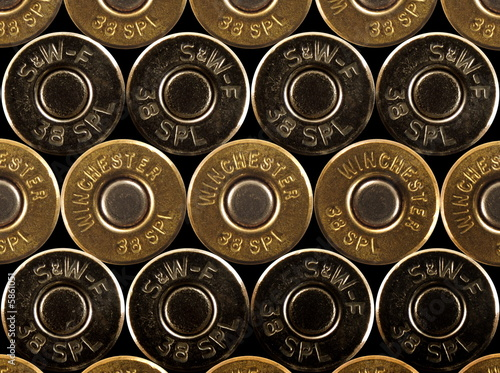 stacked bullets - rims - .38 special Wallpaper Mural