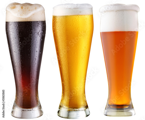 Foto op Canvas Alcohol beer; object on a white background