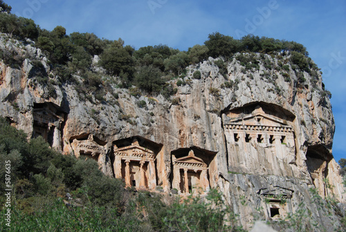 In de dag Turkije the rock-tombs in Turkey,before IV. century B.C.